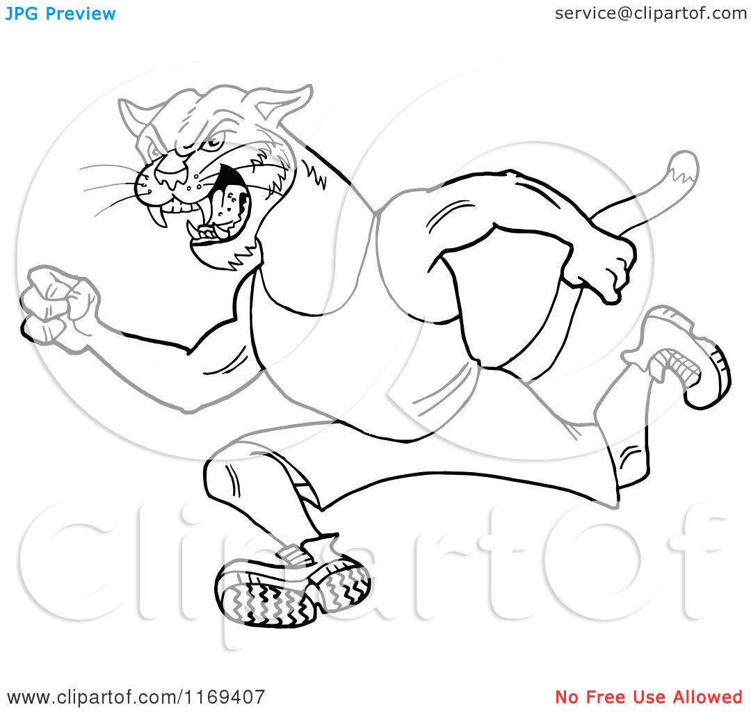 1080x1024 Wildcat Running Track Clipart