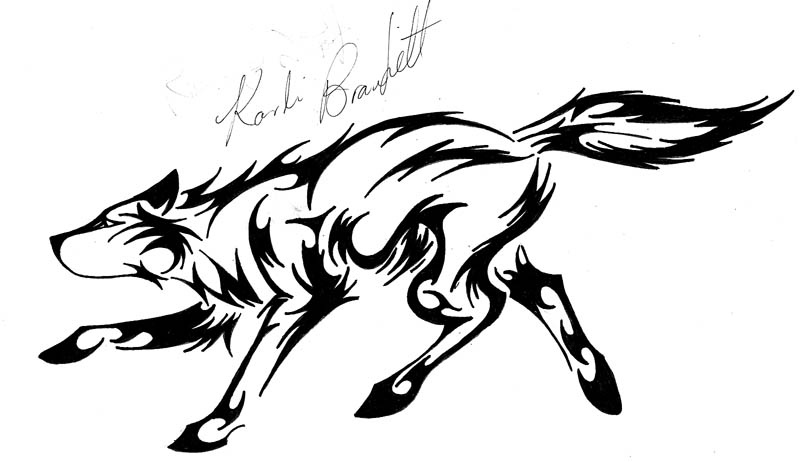 800x462 Tribal Running Wolf Version 2 By Waddygigger