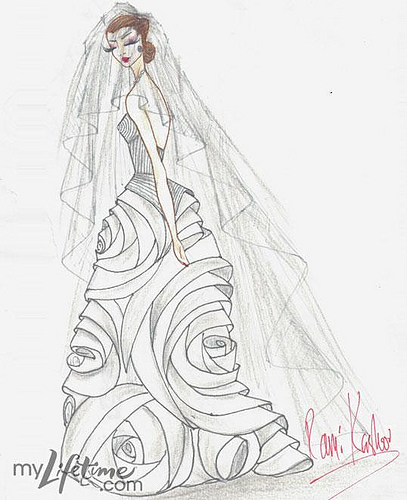 407x500 Kate Middleton's Wedding Dress By Project Runway Designers
