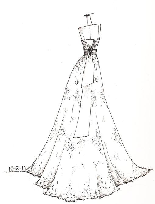 509x668 Wedding Dress Sketches