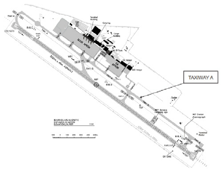 725x550 Airport Runway And Taxiways Layout