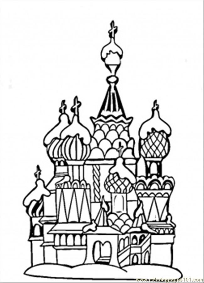 650x902 Coloring Pages Center Of Moscow (Countries Gt Russia)