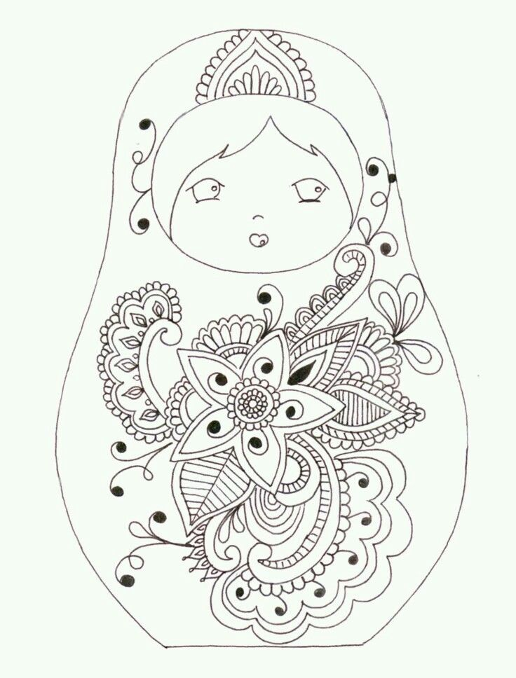 Russian Dolls Drawing