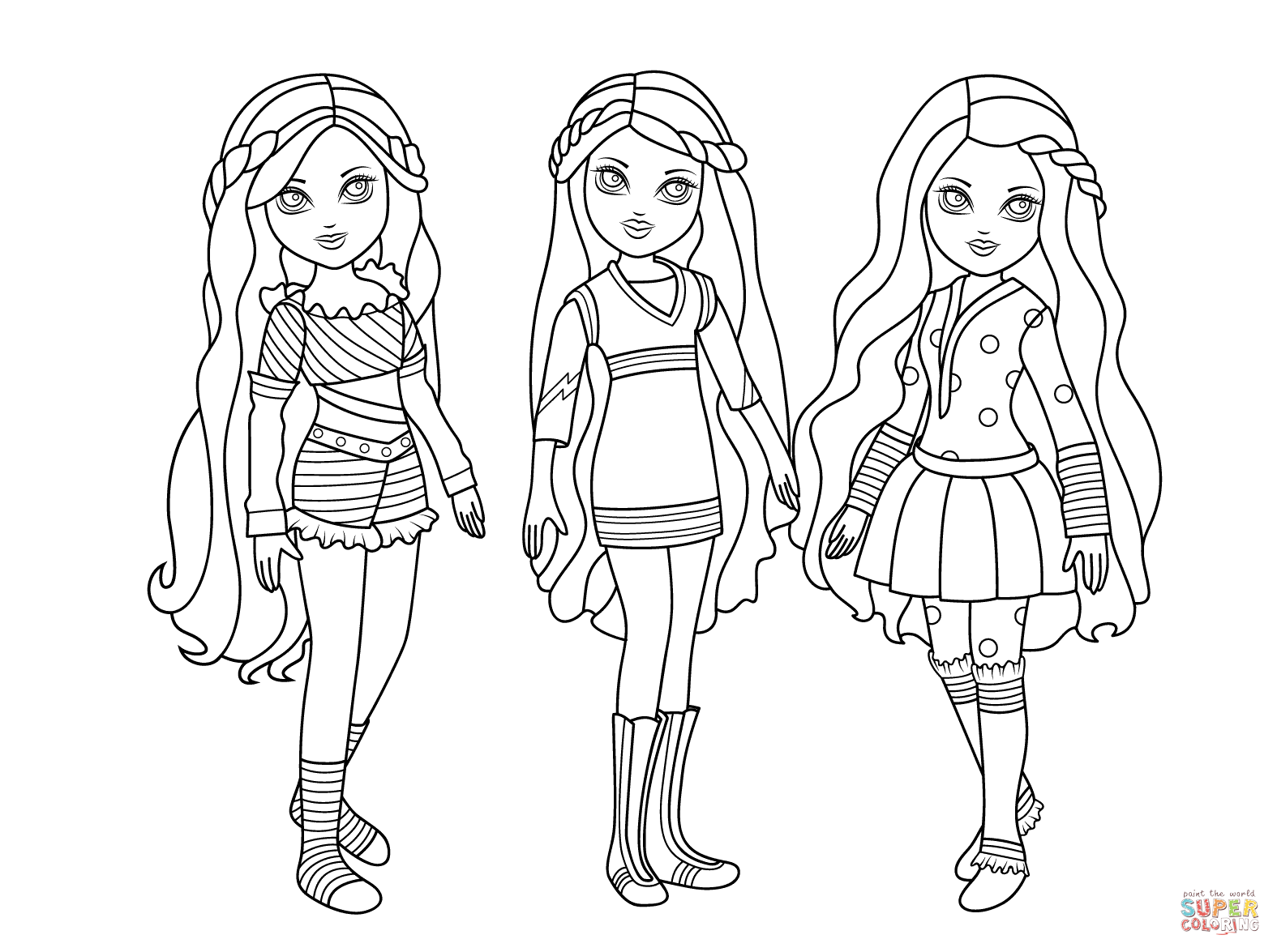 1575x1175 Matryoshka Dolls Coloring Page Free Printable Pages