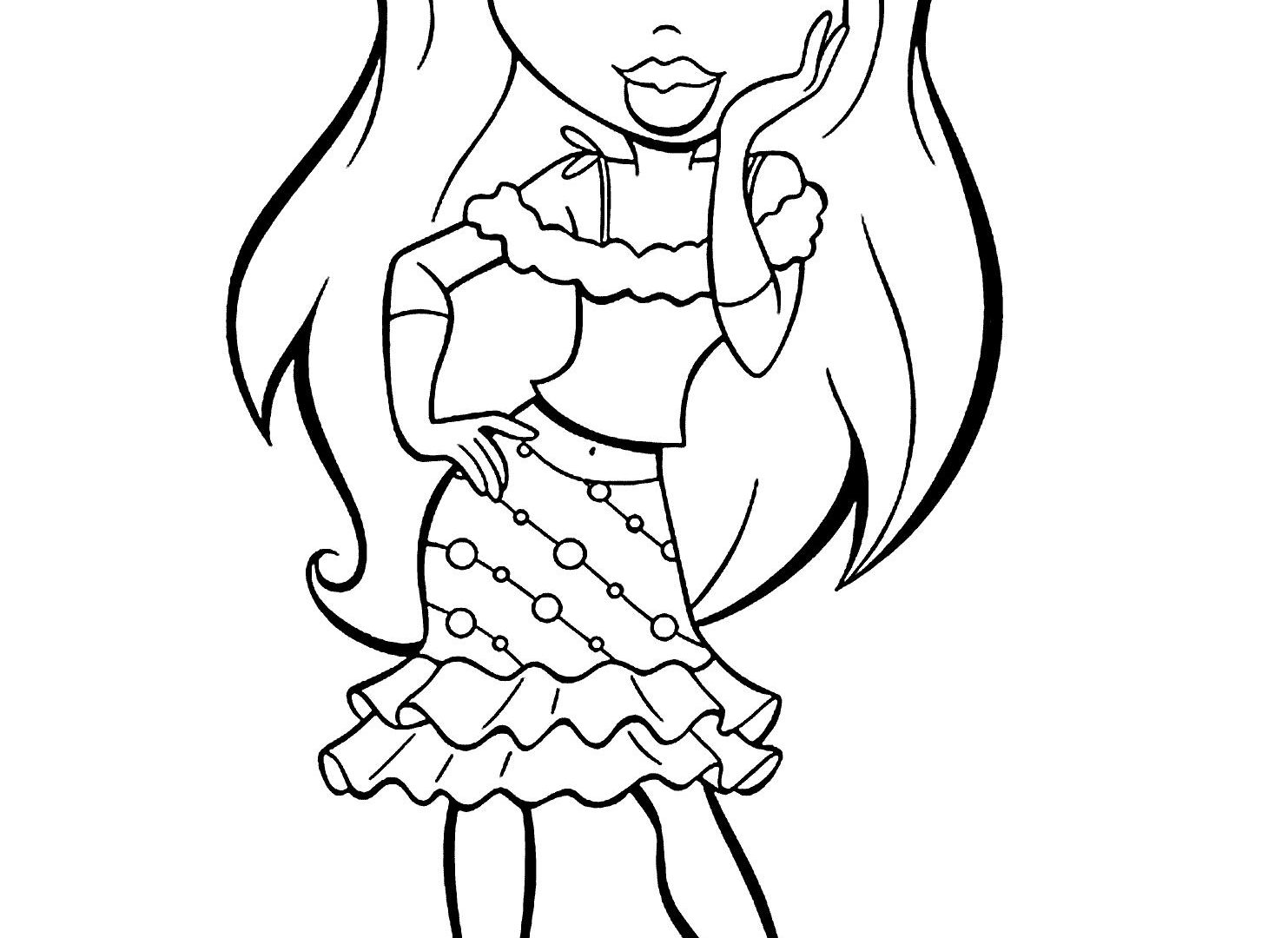 1483x1080 Doll Coloring Pages Printable Many Interesting Cute Of Dolls Free