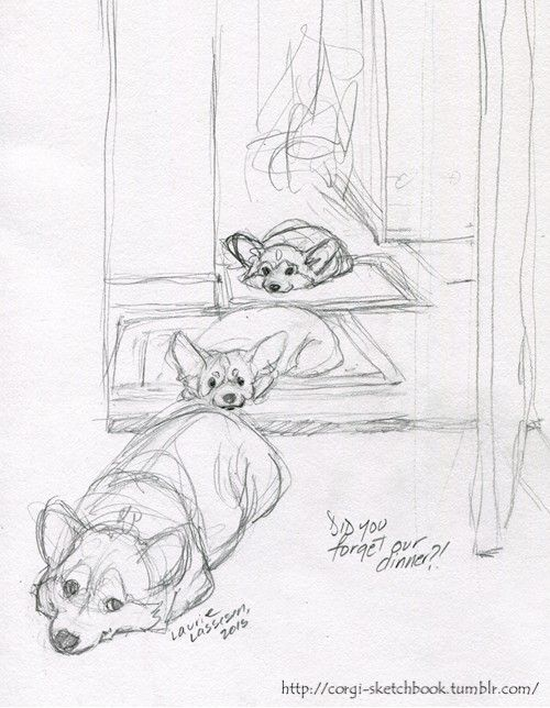 500x644 Mini Corgi Planter Pots Sketchbooks, Sketches And Corgis