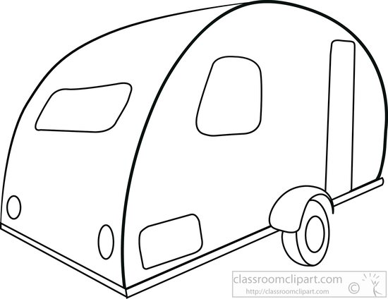 550x424 Recreational Vehicle Clipart Small Rv Trailers Pod Black