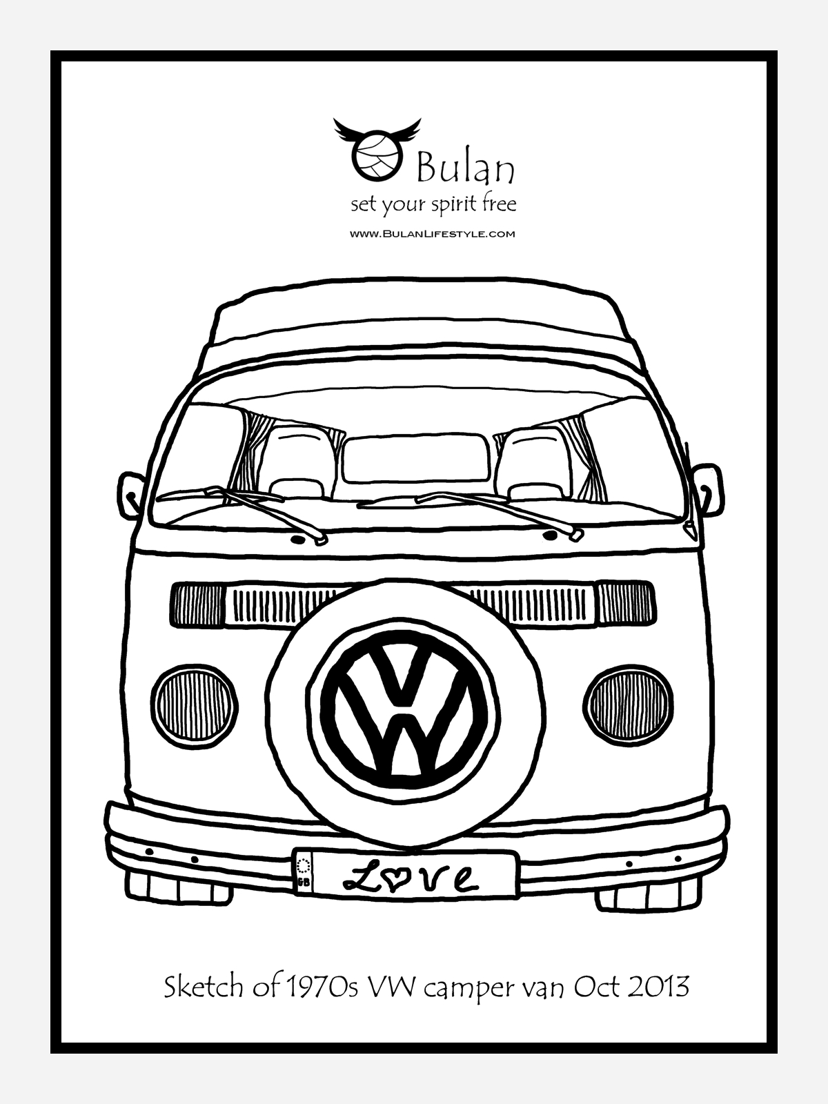 1200x1600 Vw Campervan Drawing Drawing Vw, Vw Bus And Volkswagen