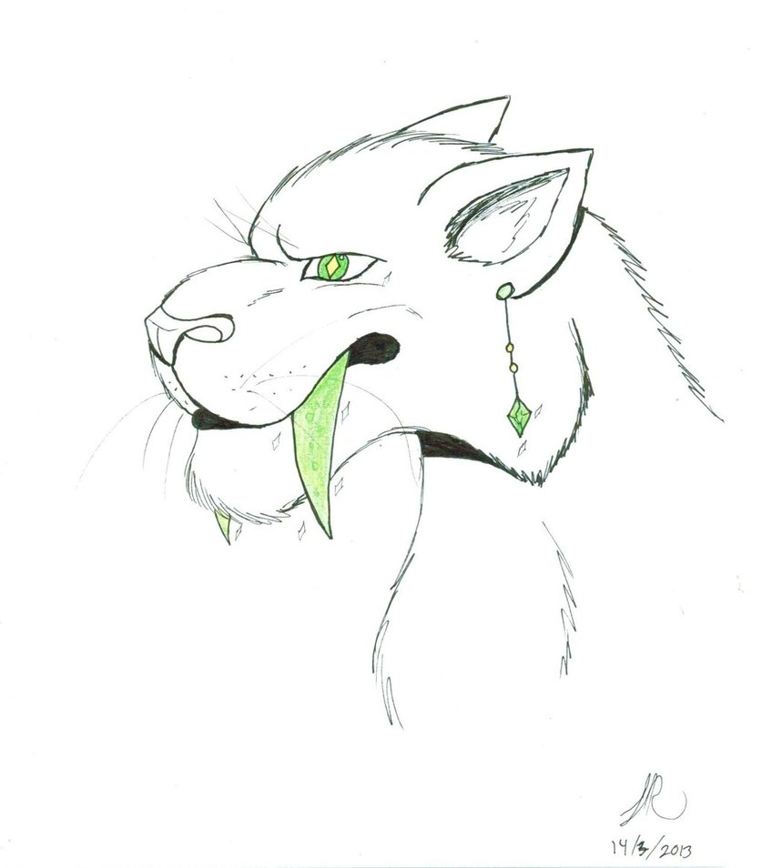 Sabre Tooth Tiger Drawing