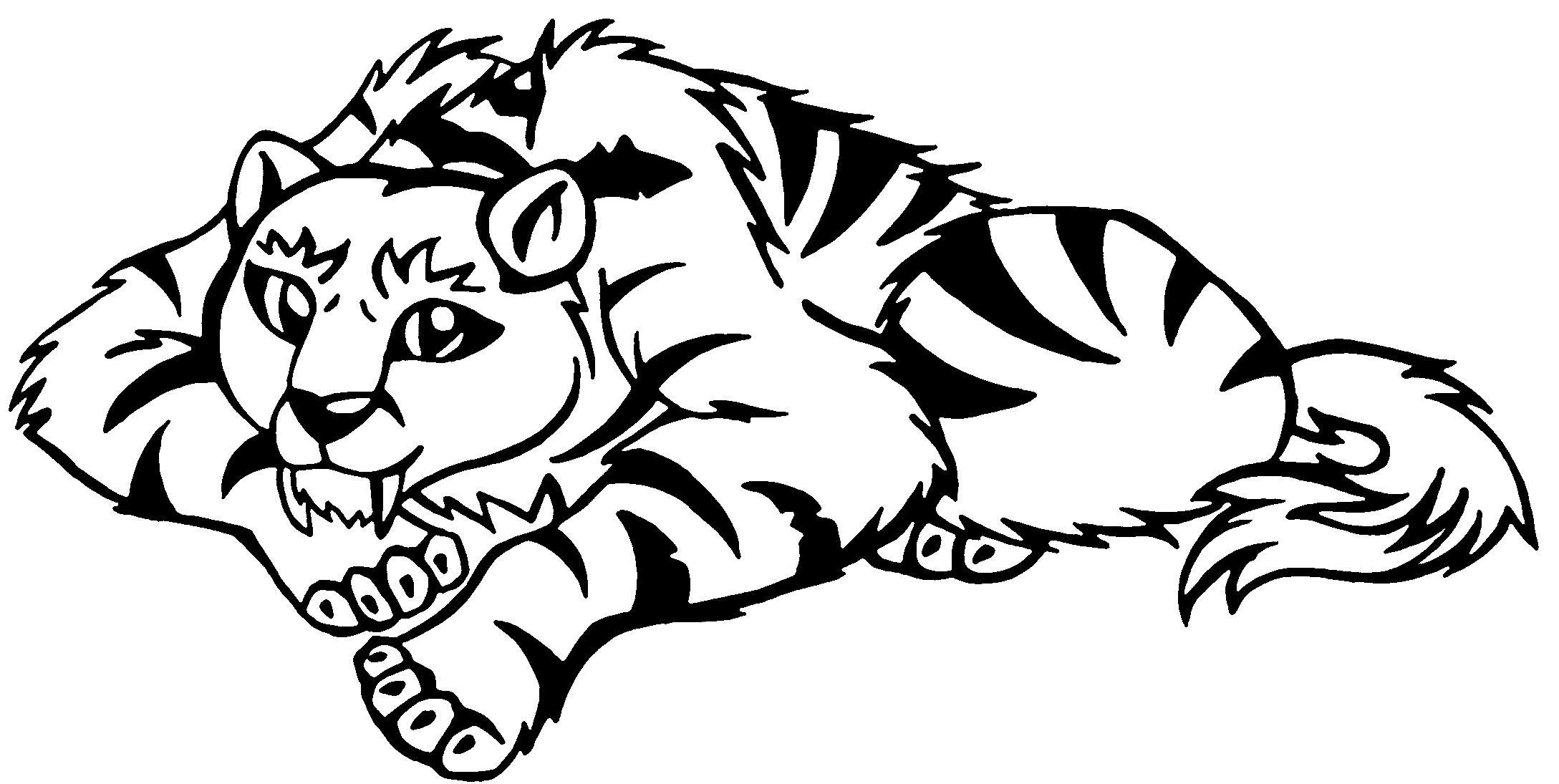 saber tooth coloring pages | Sabre Tooth Tiger Drawing at GetDrawings.com | Free for ...