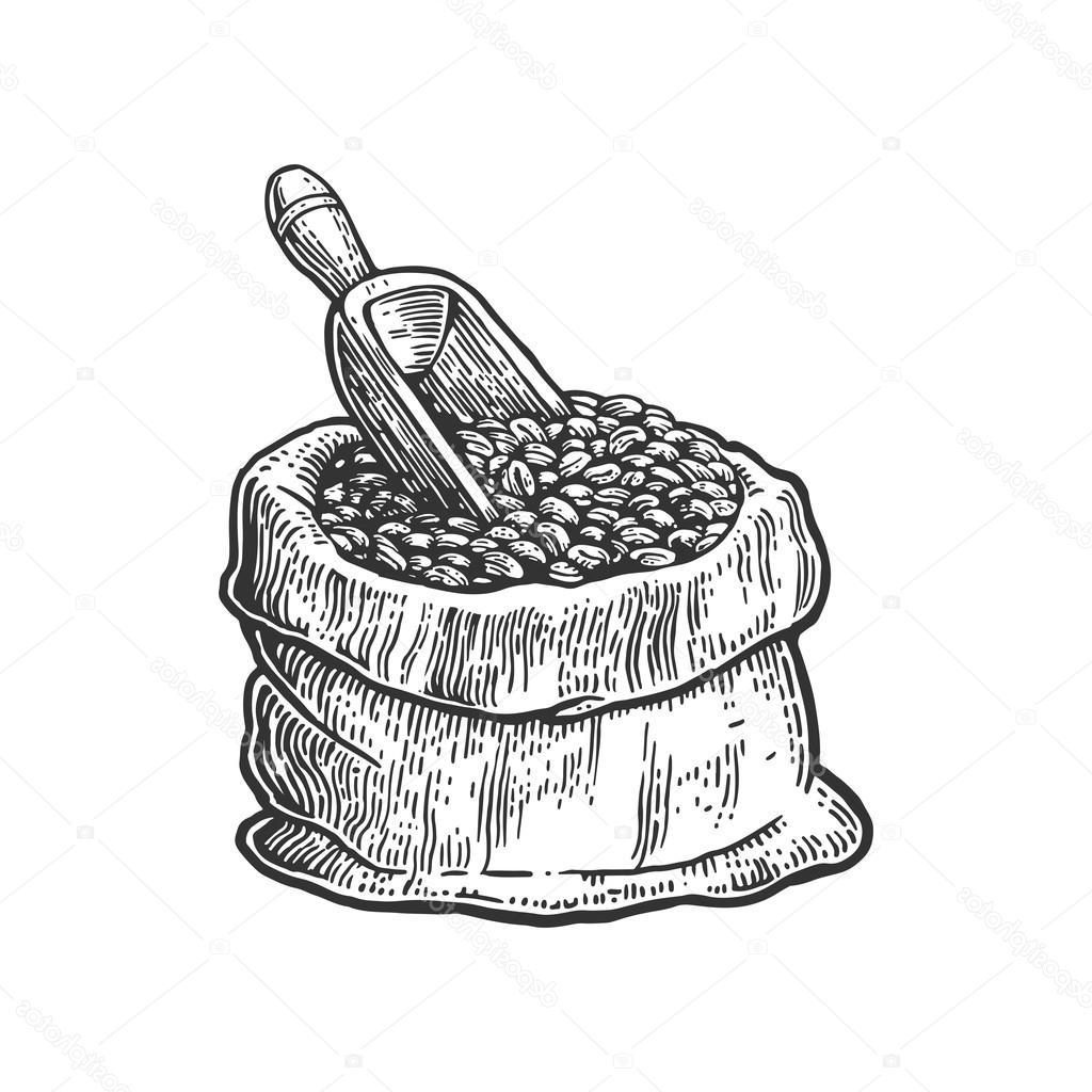 1024x1024 Hd Stock Illustration Sack With Coffee Beans Cdr