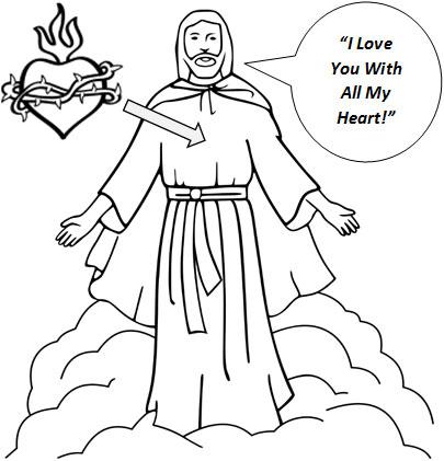 Sacred Heart Of Jesus Drawing