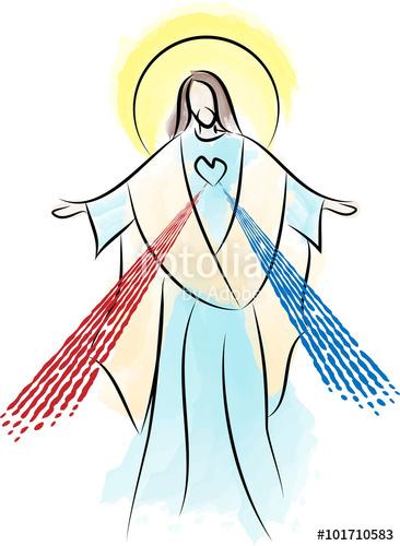 366x500 Jesus Christ The Risen Lord, Sacred Heart Divine Mercy Stock