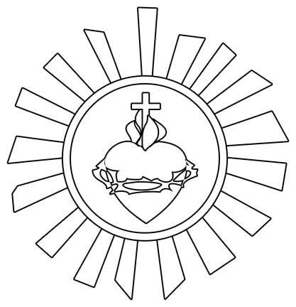 Sacred heart of jesus drawing at free for Sacred heart of jesus coloring page
