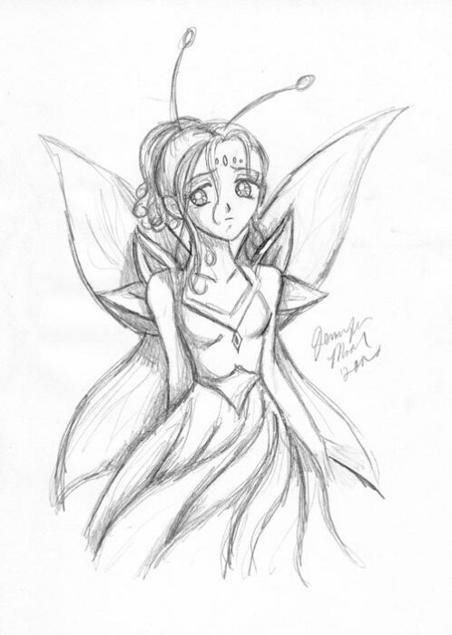 Sad Angel Drawing