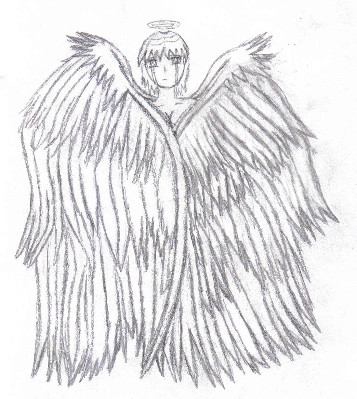 1098x1227 Drawings Of Sad Angel Wings Info