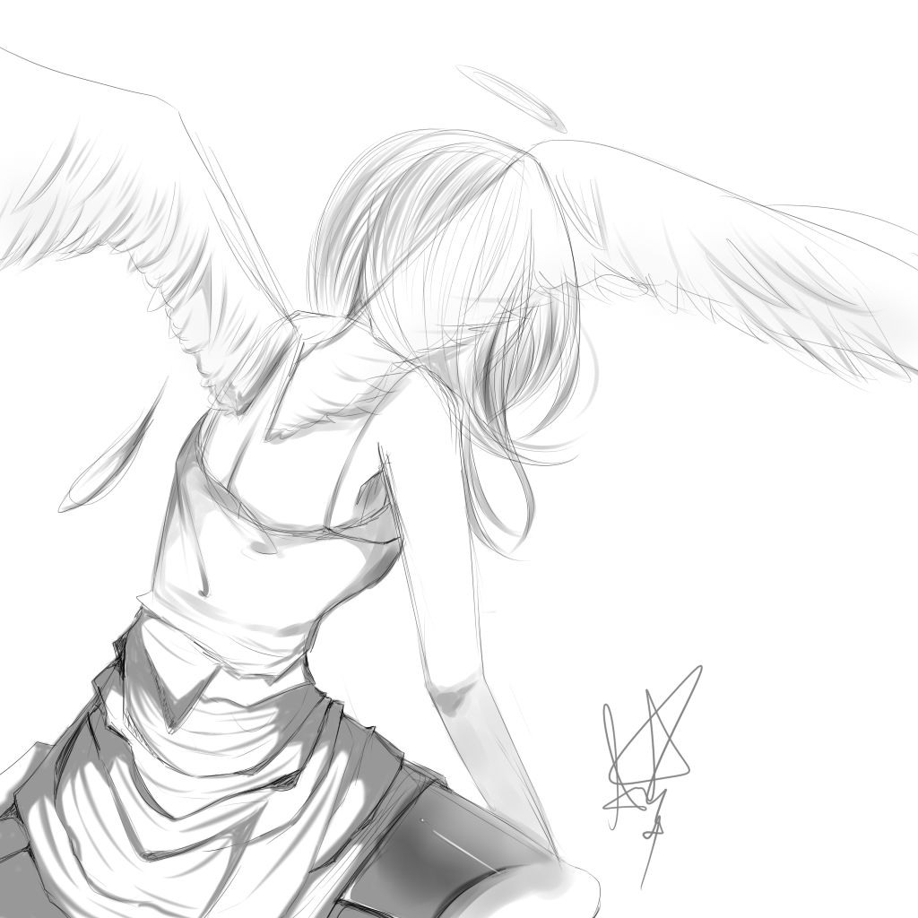 1024x1024 Sad Angel By Akiraxangel