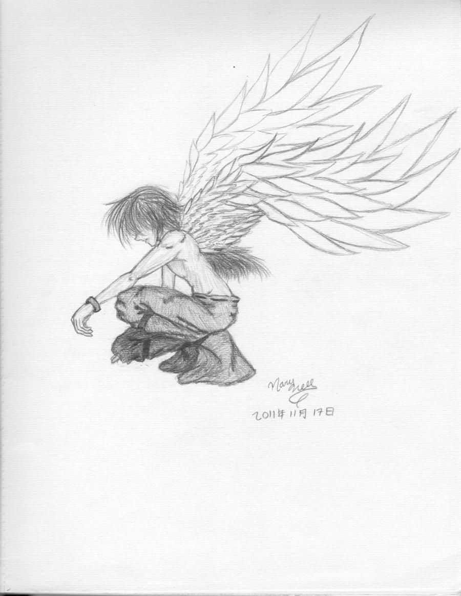 900x1165 Angel Sad Sketch Sad Angelhatefueled