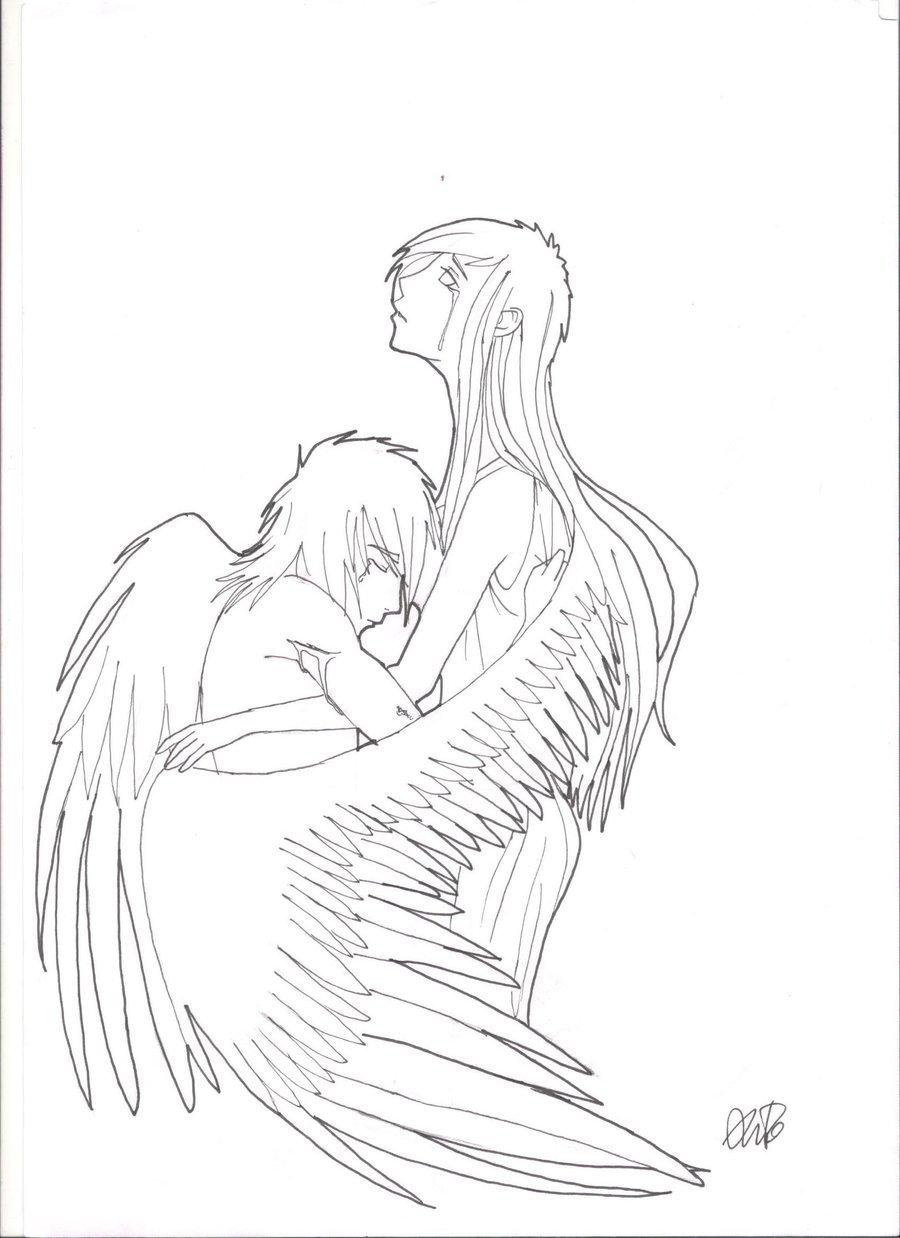 900x1238 Sad Angel By Emogirl9494