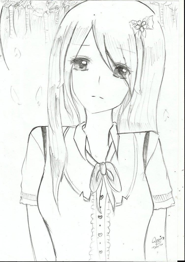 How To Draw Anime Girl Sad