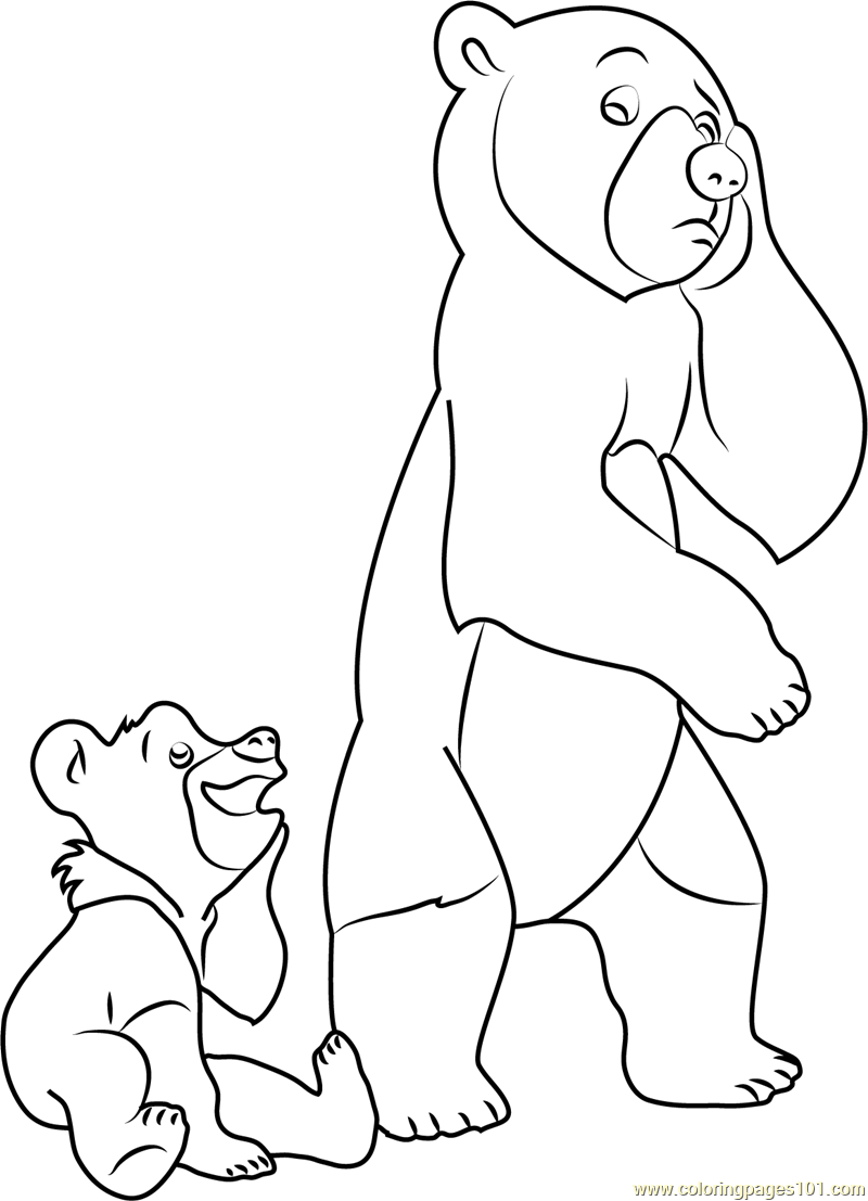 800x1107 Sad Brother Bear Coloring Page