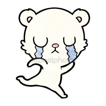 450x450 Sad Little Polar Bear Cartoon Stock Vector Lineartestpilot
