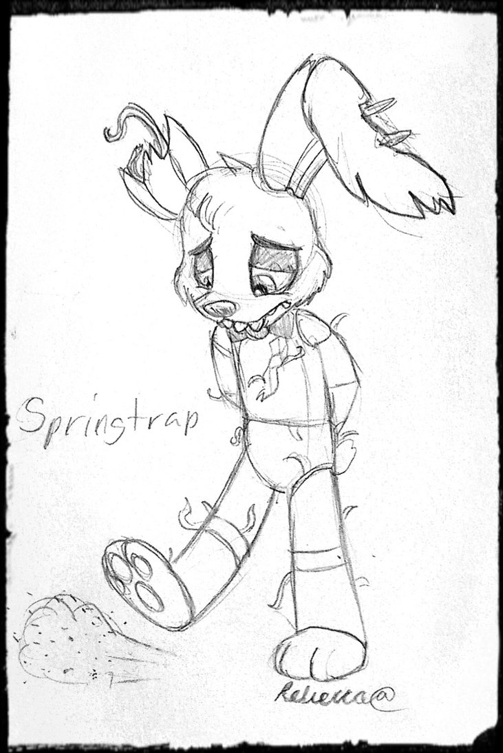 731x1093 Sad Springtrap Is Sad By Theanthropony Fnaf Fnaf