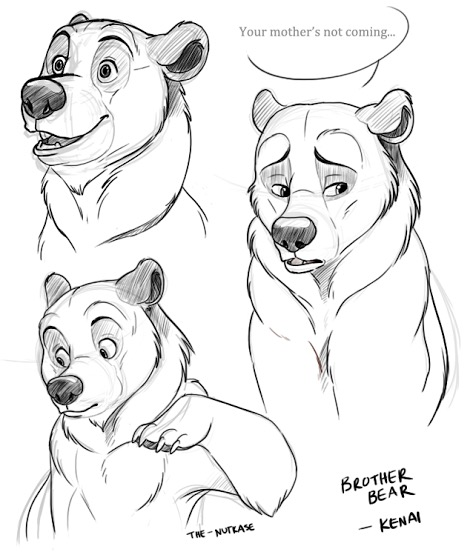 473x552 Brother Bear Animation Sketches Sad Animation