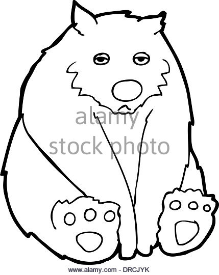 429x540 Cartoon Sad Bear Black And White Stock Photos Amp Images