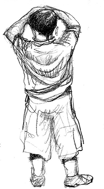 400x724 Sad Boy Drawing