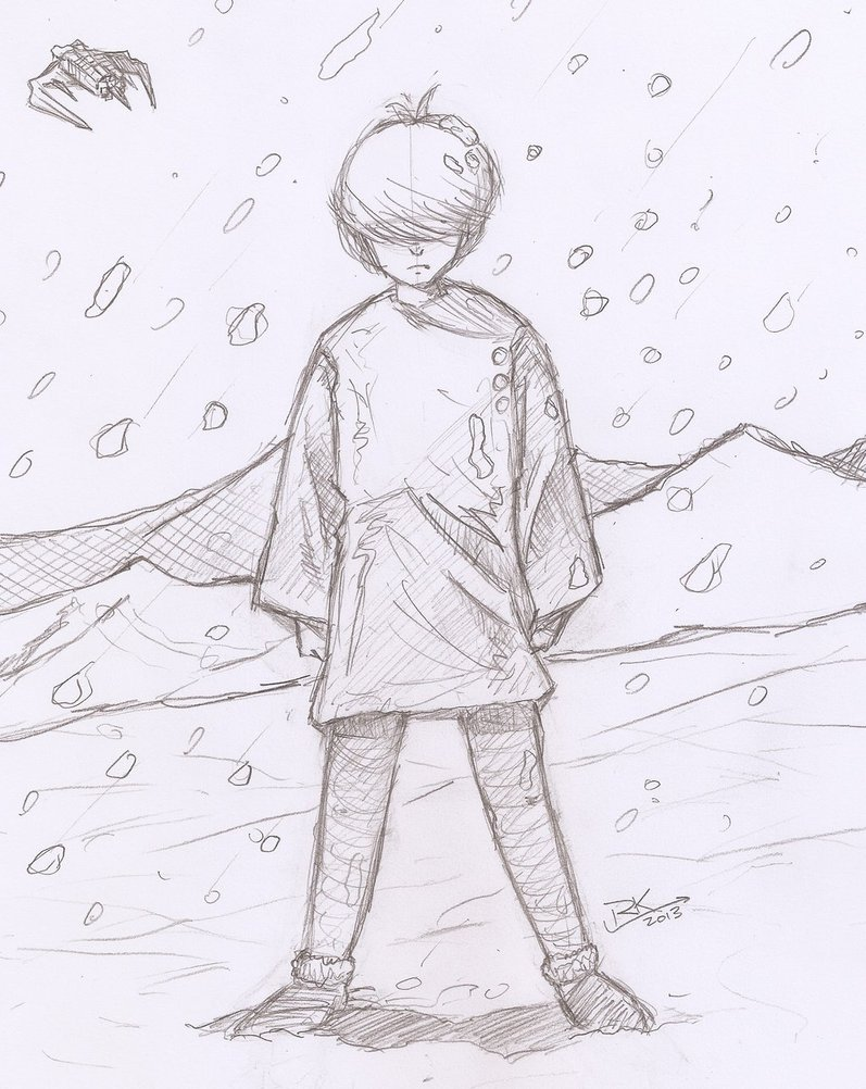 797x1002 Sadboy Snow Sketch By Ronaldkaiser