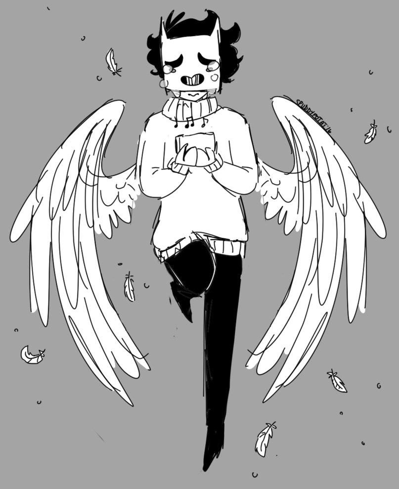 807x989 Sad Cat Bird Sketch By Spuddypotat