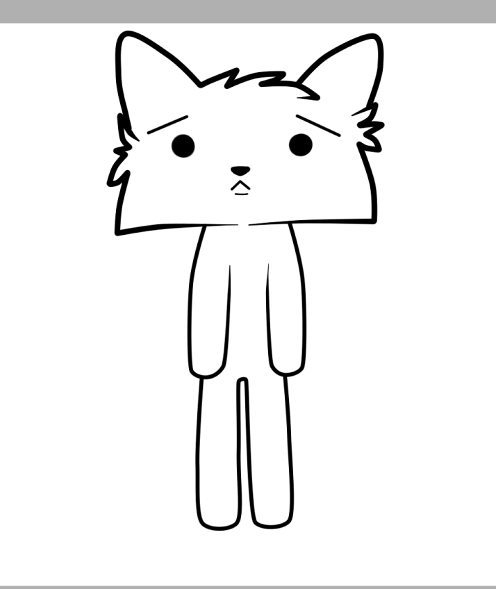 714x848 Sad Cat Line Art By Sinextcatart