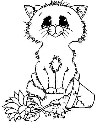 309x400 Catcoloring Click Image For More Cat Color Cat Coloring