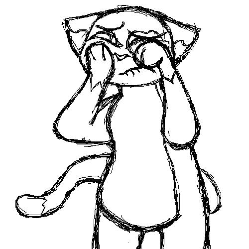 500x500 Fat Sad Cat Weasyl