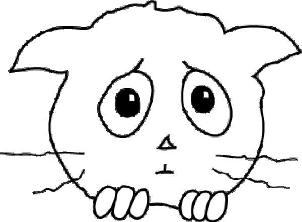 600x441 Cat Sad Clip Art