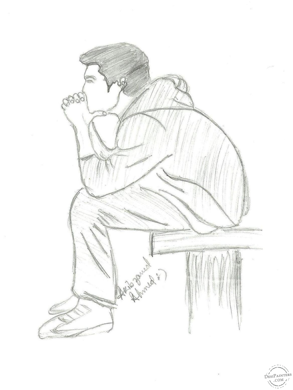 1168x1553 Sad Drawings For Boys Pencil Drawings Of Lonely Boy