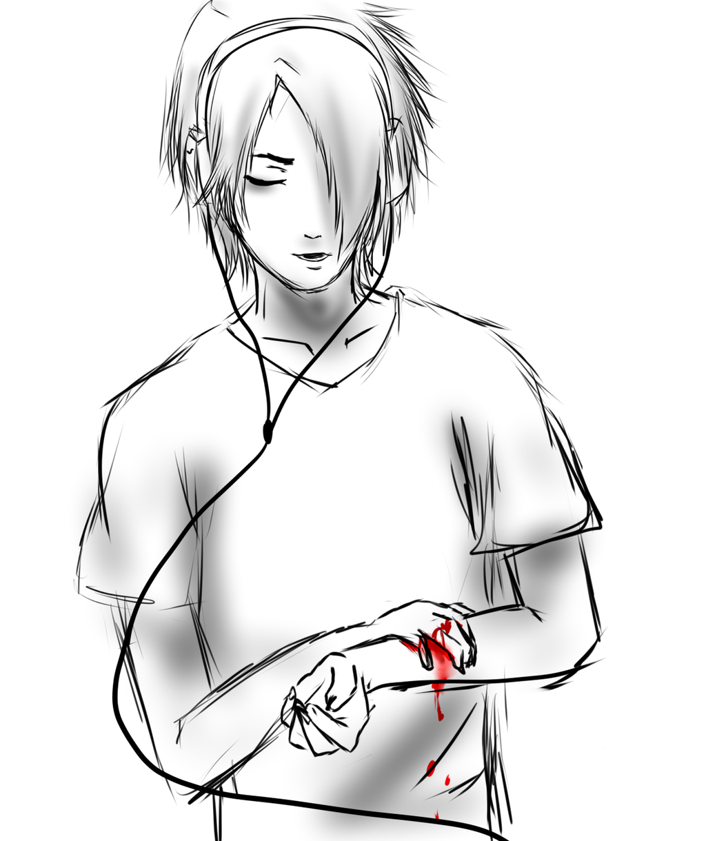 1024x1220 Sad Emo Boy Drawing Emo Boy By Dainart