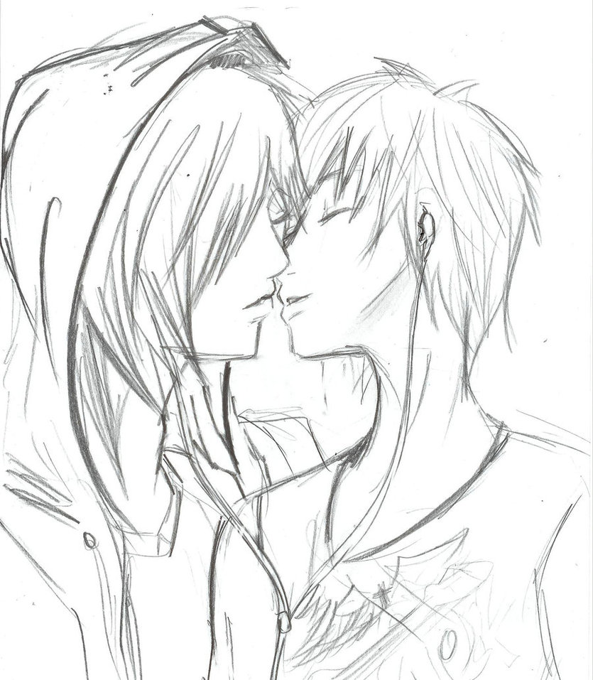835x957 Emo Anime Art Sketches Cute Emo Couple By Kirakyuuketsuki Art