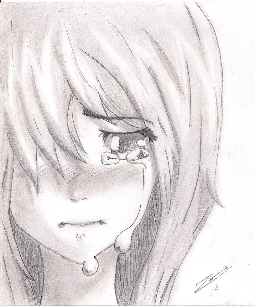 814x981 Sad Girl Crying Drawing Face Crying Cartoon Girl Face Drawing