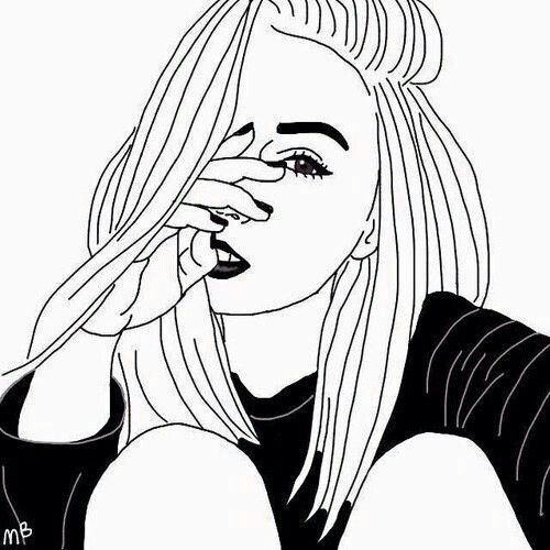 Sad Girl Face Drawing