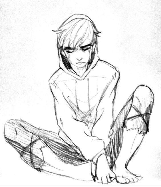 Sad Guy Drawing