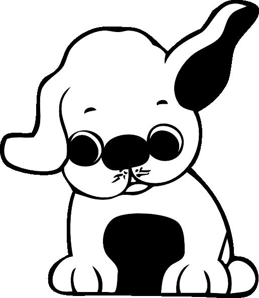 516x595 Sad Puppy Clipart Clipart Panda
