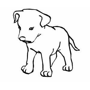 300x300 Sad Puppy Coloring Page