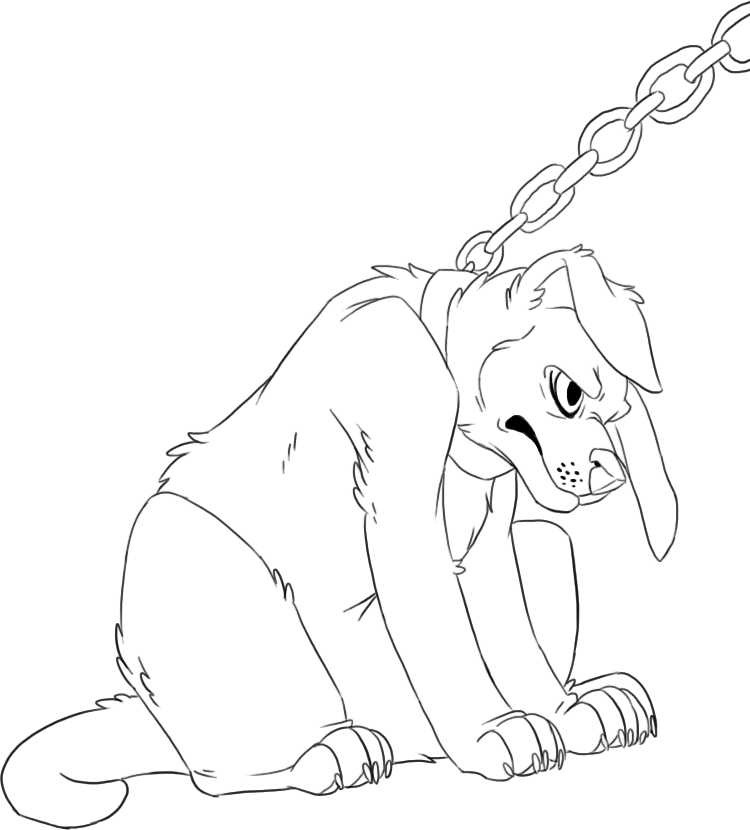 750x830 Sad Puppy Lineart By Komoroshi