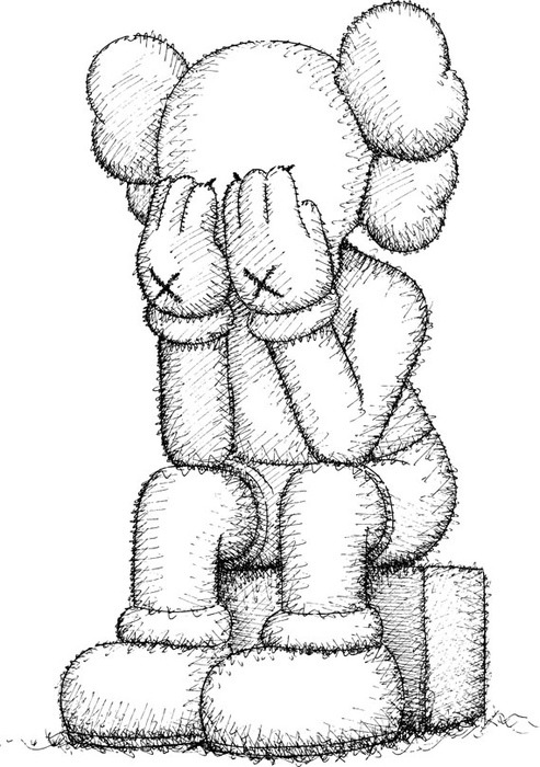 493x700 Kaws Sketch Solid Design Project Design Projects