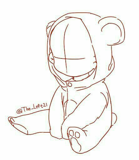 444x509 Little Child In Teddybear Suit Chibi Base Character Ref