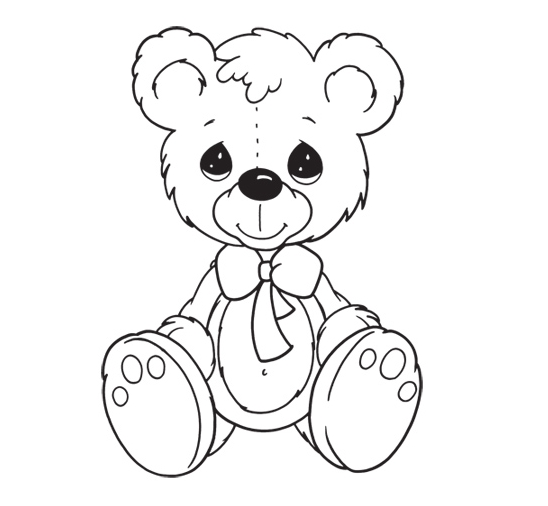 548x506 Teddy Bear Coloring Pages Appliques Patterns (Sewing