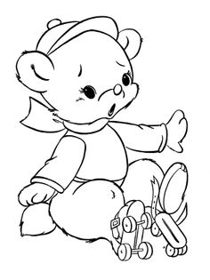 236x315 Teddy Bear With A Flower In Hand Free Coloring Pages Applique