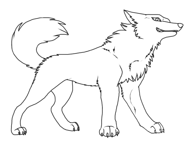 783x611 Scared Anime Wolf Base Wolf Lineart By My Lonely Wolf.png